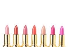 Verscheidene lippenstiften voor maken omhoog Stock Fotografie