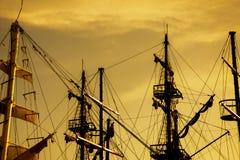 Verscheidene masten van de boten in de marine van Antalya royalty-vrije stock fotografie