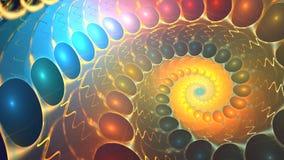 Verscheidene mooie fractals zetten regelmatig in een andere om stock videobeelden