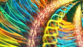 Verscheidene mooie fractals zetten snel in een andere om stock video