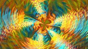 Verscheidene mooie fractals zetten snel in een andere om stock footage
