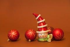 Verscheidene nieuw jaarspeelgoed Royalty-vrije Stock Foto