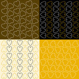 Verscheidene patronen met harten Royalty-vrije Stock Foto