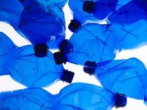 Verscheidene plastic flessen Stock Foto