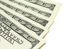 Verscheidene rekeningen van honderd dollars Stock Fotografie