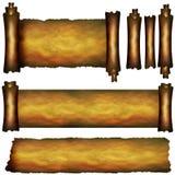 Verscheidene scrollen elementen Stock Foto's