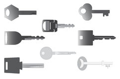 Verscheidene sleutels Stock Afbeelding
