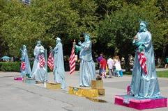 Verscheidene Standbeeld van Liberty Actors royalty-vrije stock afbeelding