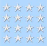 Verscheidene sterren op azuurblauw royalty-vrije illustratie