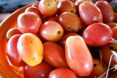 Verscheidene tomaten worden verkocht stock fotografie