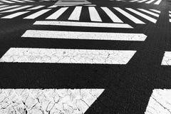 Verscheidene zebrapad royalty-vrije stock foto