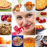 Verscheidenheid van aroma's in voedsel Stock Foto