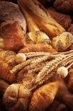 Verscheidenheid van brood Stock Afbeelding
