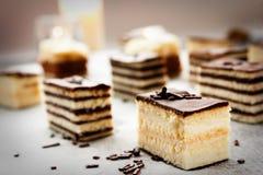 Verscheidenheid van cake Stock Foto