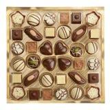 Verscheidenheid van chocolade Stock Afbeeldingen