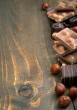 Verscheidenheid van chocolade Royalty-vrije Stock Afbeeldingen