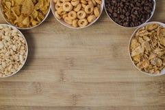 Verscheidenheid van cornflakes Stock Foto's