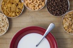 Verscheidenheid van cornflakes Royalty-vrije Stock Afbeeldingen