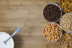 Verscheidenheid van cornflakes Stock Afbeelding