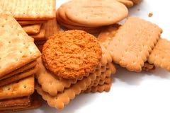 Verscheidenheid van Cracker en koekje royalty-vrije stock afbeelding