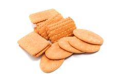 Verscheidenheid van Cracker en koekje stock afbeeldingen