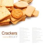 Verscheidenheid van Cracker en koekje royalty-vrije stock afbeeldingen