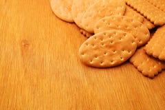 Verscheidenheid van Cracker en koekje royalty-vrije stock fotografie