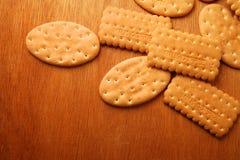 Verscheidenheid van Cracker en koekje stock foto's