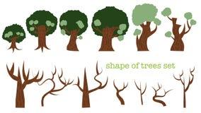Verscheidenheid van de reeks van de bomenvorm Stock Foto's