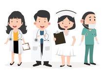 Verscheidenheid van de reeks van het artsenbeeldverhaal royalty-vrije illustratie