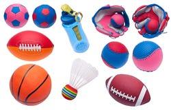 Verscheidenheid van de Voorwerpen van de Sporten van het Stuk speelgoed royalty-vrije stock afbeelding
