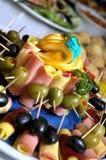 Verscheidenheid van exotisch voedsel Stock Afbeeldingen