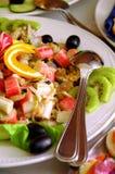 Verscheidenheid van exotische voedsel en vruchten Royalty-vrije Stock Foto's