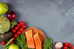 Verscheidenheid van gezonde natuurvoedingrijken in vezel, proteïne, anti-oxyderend stock foto