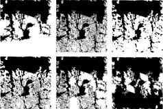 Verscheidenheid van grungevierkanten Royalty-vrije Stock Fotografie