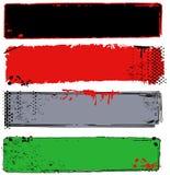 Verscheidenheid van Grungy Banners met Halftinten Royalty-vrije Stock Foto