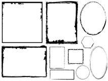 Verscheidenheid van Grungy Frames Royalty-vrije Stock Afbeelding