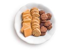 Verscheidenheid van koekjes Stock Afbeeldingen