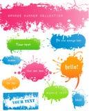 Verscheidenheid van Moderne Gekleurde Grungy Banners Stock Foto's