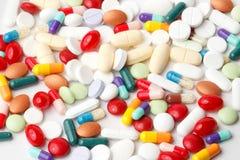 Verscheidenheid van pillen Stock Fotografie