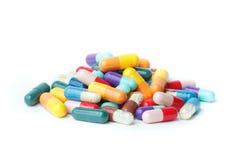 Verscheidenheid van pillen Royalty-vrije Stock Foto's