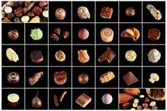 Verscheidenheid van speciale chocolade Royalty-vrije Stock Foto's