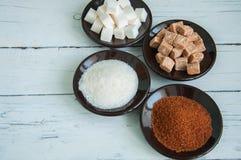 Verscheidenheid van suiker Royalty-vrije Stock Afbeeldingen