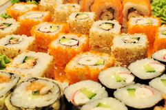 Verscheidenheid van sushi royalty-vrije stock foto