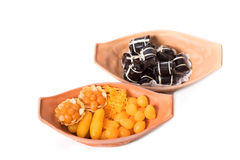 Verscheidenheid van Thaise desserts, Khanom Thai Stock Afbeeldingen