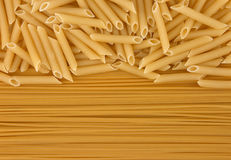 Verscheidenheid van types en vormen van droge Italiaanse deegwaren Stock Fotografie