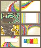 Verscheidenheid van Uitstekende Abstracte Achtergronden Royalty-vrije Stock Afbeeldingen