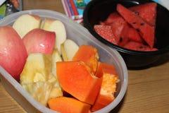 Verscheidenheids verse vruchten Stock Foto