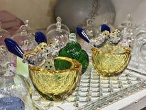 Verscheidenheidsproducten die van kristal maakten royalty-vrije stock foto