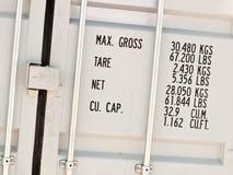Verschepende container Royalty-vrije Stock Afbeelding